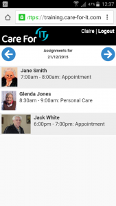 paperless social care CareForIt